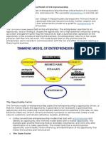Understanding the Timmons Model of Entrepreneurship