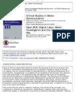 Open BUK - Digital Labor, MediaInvestigation and the Ukrainian Civil Wa