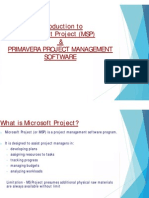 Introduction to Msp & PRIMAVERA