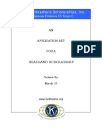 Headland Scholarship Application