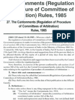 Cantonments (Regulation of Procedure of Committees of Arbitration) Rules,1985