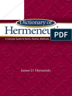 Dictionary of Hermeneutics - James D. Hernando