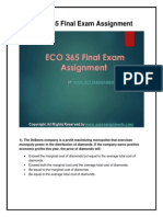 ECO 365 Final Exam UOP HomeWork Tutorials