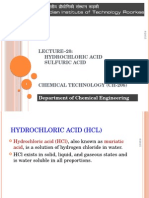 Lecture 20 HCl H2SO4
