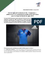 Nouveau maillot de l'équipe de France de rugby