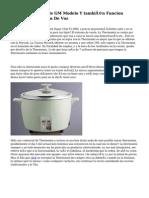 Cocina Programable GM Modelo Y también Funcion Freidora Y Función De Voz