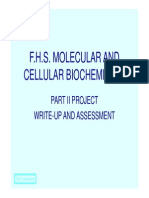 Advice on Project Assessment Write Up