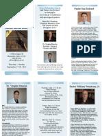 Fishers of Men  - Conference Brochure  Sept 17-20, 2015