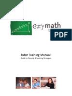EzyMathTutoring - Training Manual