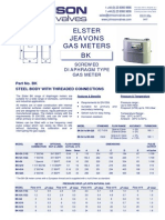 Data Sheet No. 03.01 - BK Gas Meter