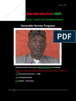 27332200 the New Afrikan Liberation Front Honorable Herman Ferguson
