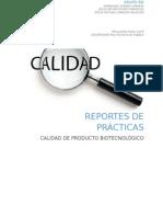 CALIDAD DE PRODUCTO BIOTECNOLOGICO