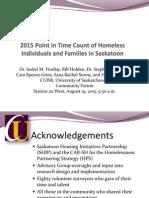 CUISR 2015 Homeless Count August Community Forum