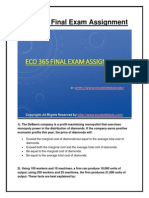 ECO 365 Final Exam Assignment UOP Complete Course