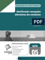 Identificando concepções alternativas