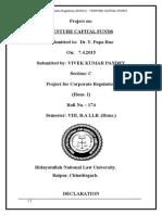 Venture Capital Funds Vivek Kumar Pandey Roll No. 174