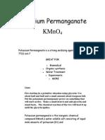 Uses of Potassium Permanganate 2010