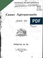 INE Chile. Ier Censo Agropecuario (1929 1930)