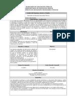 Formato Internado en FORMATO INTERNADO EN EDUCACIÓN SECUNDARIAEducación Secundaria