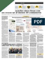 Hallan en Ayacucho Cinco Fosas Con Los Restos de Al Menos 60 Comuneros
