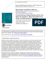 Incorporating a Class Analysis within the National Question