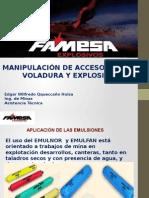 Manipulación de Accesorios de Voladura y Explosivos - FAMESA 02