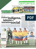 Fútbol indígena, talento e iniciativa social