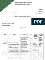 planul activitatilor educative ale dirigintelui