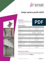 Coltar Pentru Profil UA75