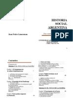 Historia Social Argentina - Juan P. Lumerman