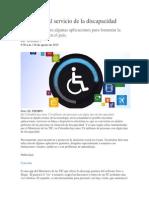 Tecnología Al Servicio de La Discapacidad