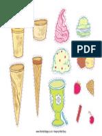 Ice Cream Printable Colour