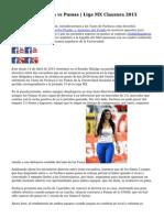 Apuestas | Pachuca vs Pumas | Liga MX Clausura 2015