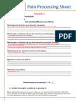 Pain Processing Sheet Mock 3