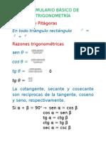 formulario básico trigonometría