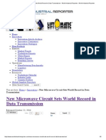 new microwave circuit sets world record in data transmission - world industrial reporter   world industrial reporter