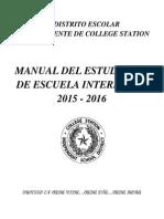 2015-16 intermediate student  handbook -  spanish