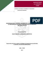 INCIDENCIAS DEL CONTROL INTERNO EN LA OPTIMIZACIÓN DE LA GESTIÓN DE LAS MICRO EMPRESAS EN EL DISTRITO DE CHACLACAYO