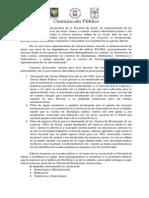 Comunicado Público FACSAL