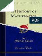 A History of Mathematics - Cajori, Florian