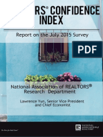 July 2015 REALTORS® Confidence Index