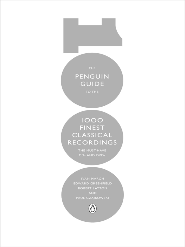 Penguin Guide to 1000 Finest Classical Recordings (Penguin, 2012) |  Gramophone Record | Concerto