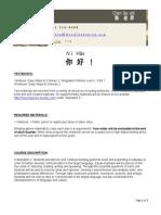 mandarin 2 syllabus 2015-2016