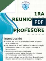 1ra Reunion de Profesores 2014