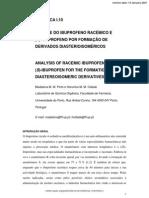 Análise Do Ibuprofeno Racémico e (S)-Ibuprofeno Por Formação de Derivados Diasterioisoméricos