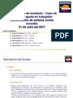 Investigación de Incidente - Caso Lumbalgia Aguda en Trabajador SCI 31.07.11