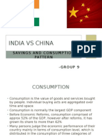 India and China - Savings and Spending Patters
