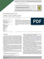Recommender Systems Survey - J. Bobadilla, F. Ortega, A. Hernando, A. Gutiérrez