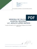 Memoria de calculo de un edificio en Lopez Mateos