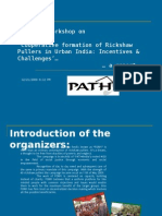 Report of the Rickshaw Pullers Workshop Held on 15-16 Dec 2009